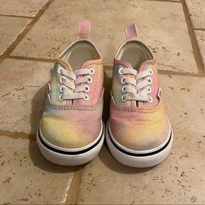 Toddler size 7 Tye dye Vans